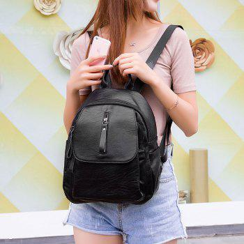 Women's Backpack All-match Versatile School Bag - BLACK BLACK