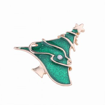 3pcs Christmas Tree Elk Socks Brooch with Rhinestones Charm Jewelry - multicolorCOLOR