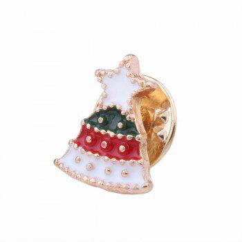 3pcs Fashion Design Christmas Element Santa Claus Walking Stick Bell Brooch - multicolorCOLOR