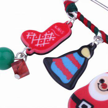 Christmas Snowman Socks Brooch Creative Cartoon Pins - multicolorCOLOR