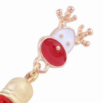 Fashion Design Christmas Deer Long Tassels Brooch Charm Accessories - RED