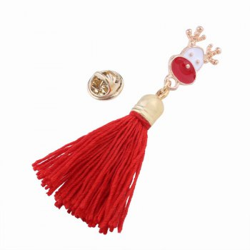 Fashion Design Christmas Bell Long Tassels Brooch Charm Accessories - multicolorCOLOR