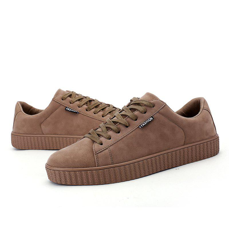 Korean Leisure Retro Flat Shoes - BROWN 40
