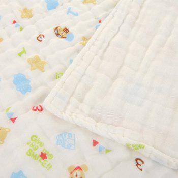 6 Layers Cotton Gauze Towel Baby - BLUE