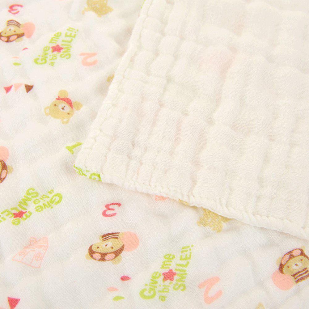 6 Layers Cotton Gauze Towel Baby - PINK