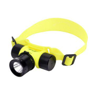 HKV LED Diving Headlight Waterproof Fishing Swimming Head Lamp Torch Light - COLD WHITE COLD WHITE