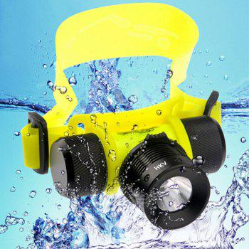 HKV LED Diving Headlight Waterproof Fishing Swimming Head Lamp Torch Light - COLD WHITE