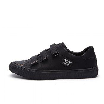 Men Casual New Trend for Fashion Suede Warm Outdoor Lace Up Rubber Shoes - BLACK 42