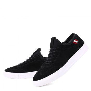 Men Casual New Trend for Fashion Outdoor Slip on Rubber Flat Shoes - BLACK 44