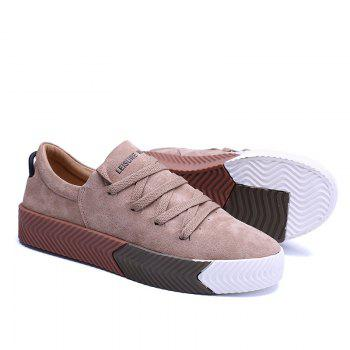 Men Casual New Trend for Fashion Lace up  Outdoor Rubber Flat Shoes - YELLOW 41