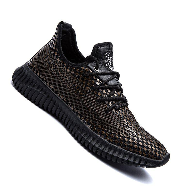 Men Casual New Trend for Fashion Outdoor Rubber Flat Shoes - GOLDEN 42