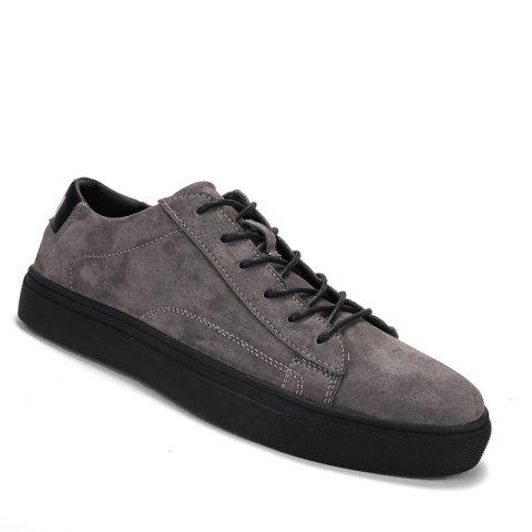 Hommes Loisirs Mode Jogging Athlétique Respirant Walking Sneakers - Gris 42