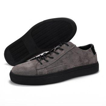 Hommes Loisirs Mode Jogging Athlétique Respirant Walking Sneakers - gris 40