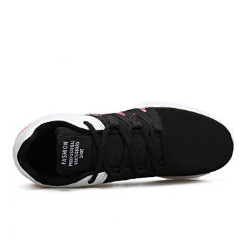 Men Leisure Fashion Running Sport Shoes Breathable Walking Sneakers - BLACK 44