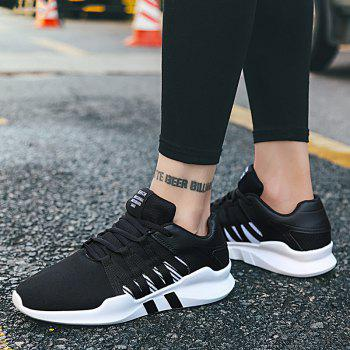 Men Leisure Fashion Running Sport Shoes Breathable Walking Sneakers - BLACK 41