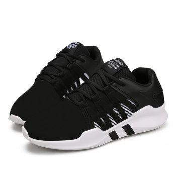 Men Leisure Fashion Running Sport Shoes Breathable Walking Sneakers - BLACK 39