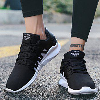 Men Leisure Fashion Running Sport Shoes Breathable Walking Sneakers - BLACK 40