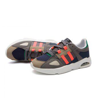 Men Leisure Fashion Hiking Sport Shoes Breathable Walking Sneakers - GREY/ORANGE 40