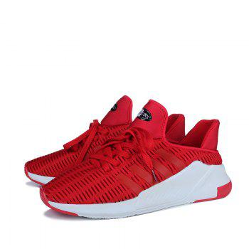 Men Leisure Fashion Running Shoes Breathable Walking Sneakers - RED 40