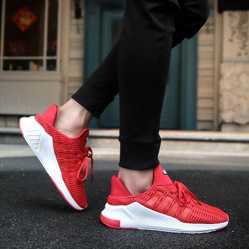 Men Leisure Fashion Running Shoes Breathable Walking Sneakers - RED 38