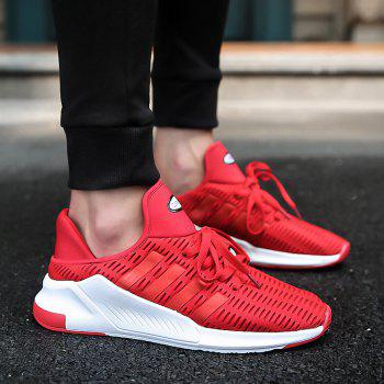 Men Leisure Fashion Running Shoes Breathable Walking Sneakers - RED 36