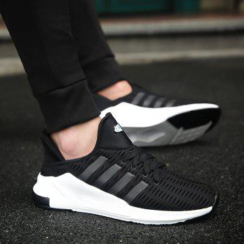 Men Leisure Fashion Running Shoes Breathable Walking Sneakers - BLACK 45