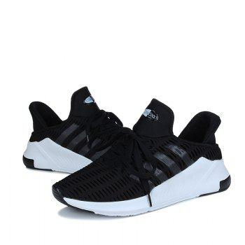 Men Leisure Fashion Running Shoes Breathable Walking Sneakers - BLACK 43