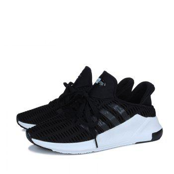 Men Leisure Fashion Running Shoes Breathable Walking Sneakers - BLACK 41