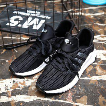 Men Leisure Fashion Running Shoes Breathable Walking Sneakers - BLACK 42