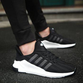 Men Leisure Fashion Running Shoes Breathable Walking Sneakers - BLACK 40