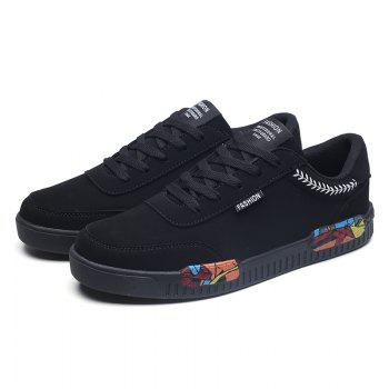 Fashion Men Leisure Shoes Male Breathable Walking Casual Sneakers - BLACK WHITE 40