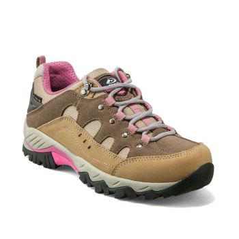 Hiking Shoes Low-cut Sport Shoes Breathable Hiking Boots Athletic Outdoor Shoes for Women - BROWN BROWN