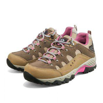 Hiking Shoes Low-cut Sport Shoes Breathable Hiking Boots Athletic Outdoor Shoes for Women - BROWN 35