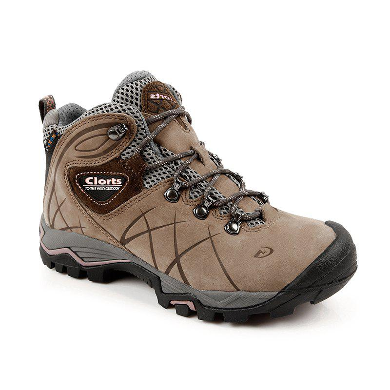 Clorts Hiking Shoes Women Waterproof Outdoor Hiking Boots Athletic Sneakers - BROWN 35
