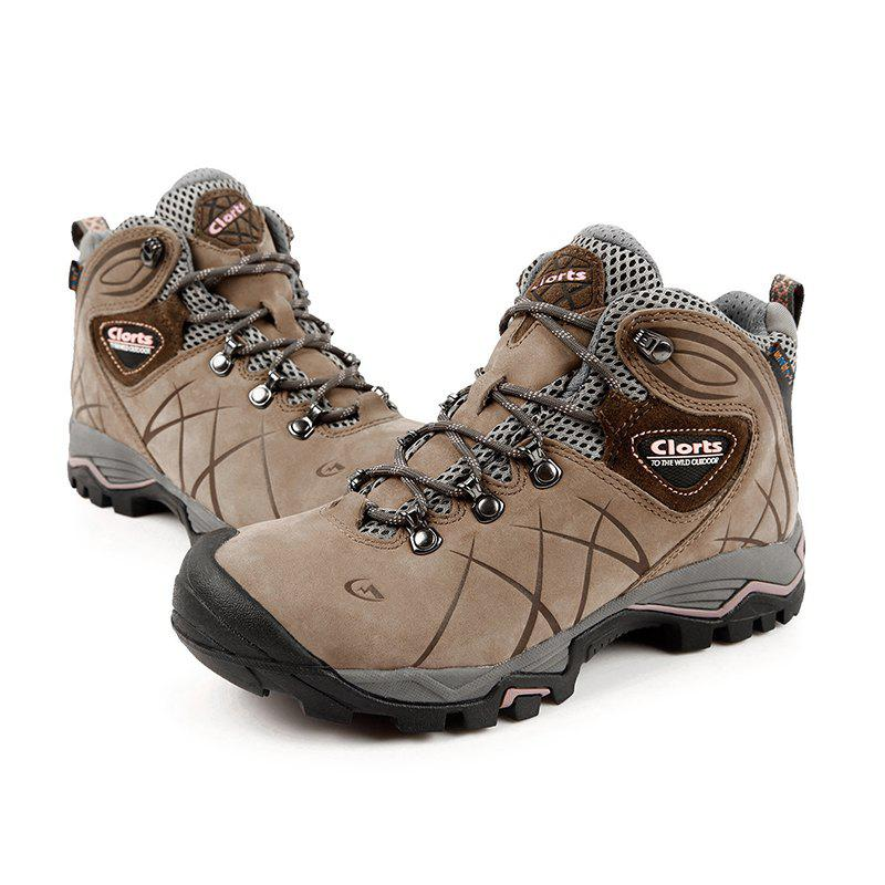 Clorts Hiking Shoes Women Waterproof Outdoor Hiking Boots Athletic Sneakers - BROWN 36