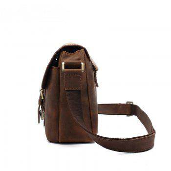 AUGUR  Men Genuine Leather Shoulder Bag  Messenger Business Briefcase -  BROWN