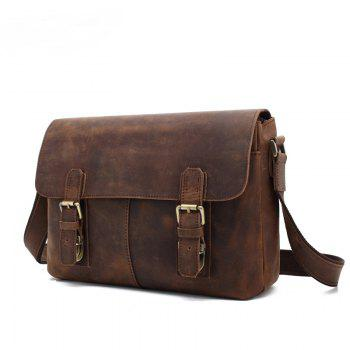 AUGUR  Men Genuine Leather Shoulder Bag  Messenger Business Briefcase - BROWN BROWN