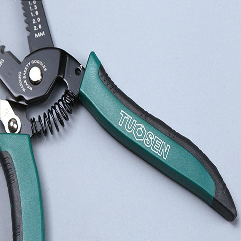 7 Inch Stripping Pliers  Multi Function  65 Steel - COLORMIX SIZE:17.5 X 5 X 1.5CM