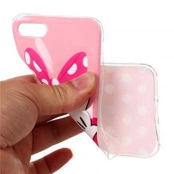 Butterfly Finger Pattern Soft TPU Antiscratch Back Cover Case for iPhone 8 - multicolorCOLOR