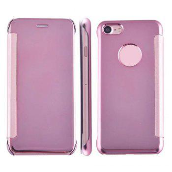Luxury Mirror PU Leather Smart Flip Hard Protective Back Cover Case for iPhone 7 - ROSE GOLD