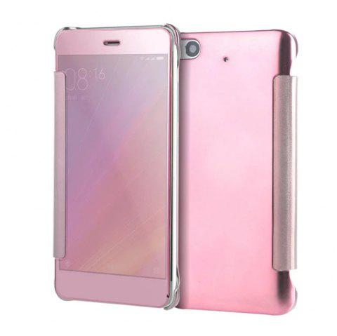 Luxury Mirror PU Leather Smart Flip Hard Protective Back Cover Case for Xiaomi 5S - ROSE GOLD