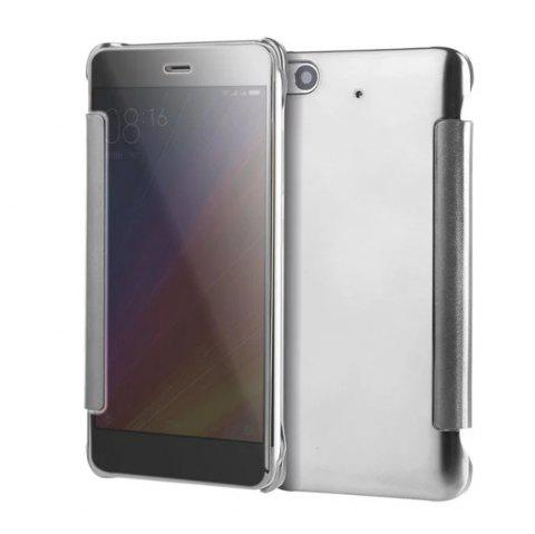 Luxury Mirror PU Leather Smart Flip Hard Protective Back Cover Case for Xiaomi 5S - SILVER