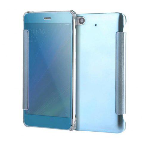 Luxury Mirror PU Leather Smart Flip Hard Protective Back Cover Case for Xiaomi 5S - WINDSOR BLUE