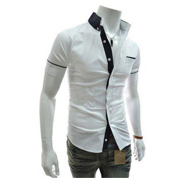 Men's Casual Short Sleeved Shirts - WHITE XL