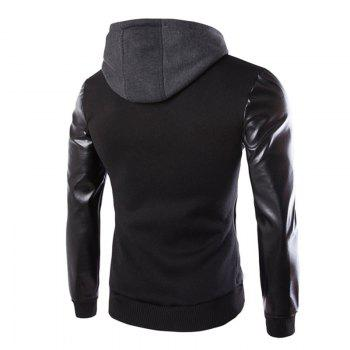 Men's Wear Hooded Jacket - BLACK 2XL