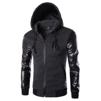 Men's Wear Hooded Jacket - DARK GRAY DARK GRAY