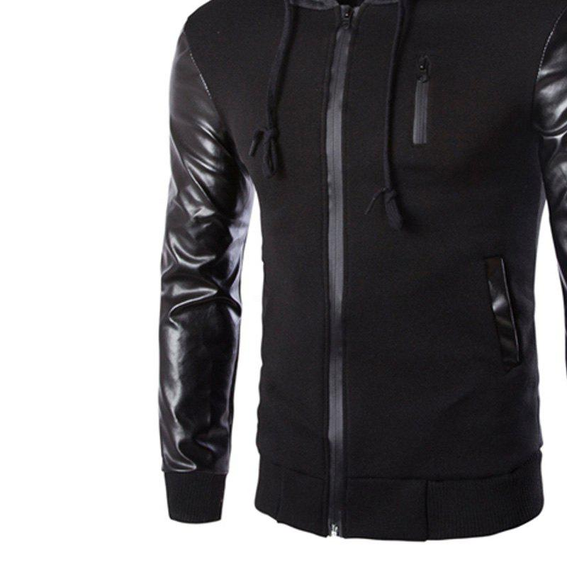 Men's Wear Hooded Jacket - BLACK XL