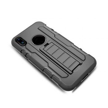 Shatter-resistant with Bracket Phone Case for iPhone X - BLACK