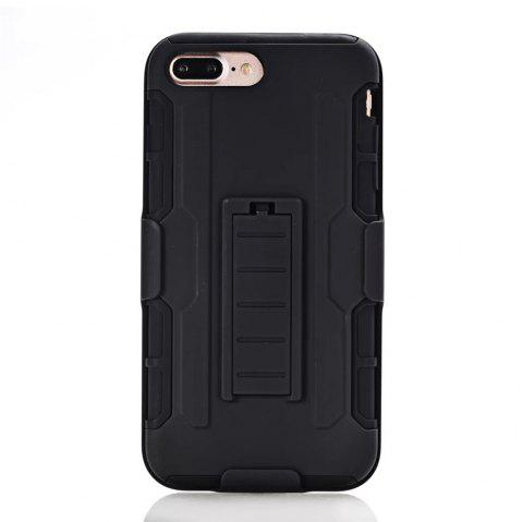 Shatter-resistant with Bracket Phone Case for iPhone 8 Plus - BLACK