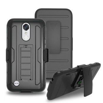 Shatter-resistant with Bracket Phone Case for LG LV5 - BLACK BLACK